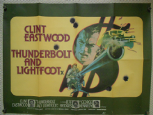 Thunderbolt and Lightfoot, Original UK Quad Poster, Clint Eastwood, Robert Redford, '74
